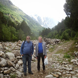 Jean Michel et et Yuri Berezhnoi. Terskol, 6 août 2014. Photo : J. Marquet
