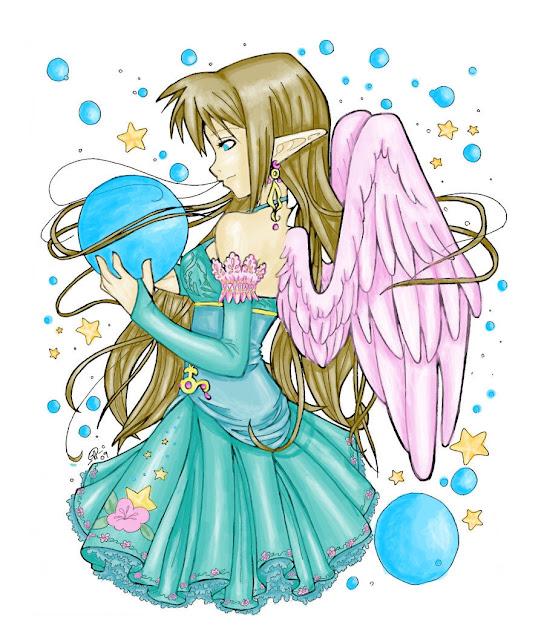 Elf Angel Coloring By Letyourheartsmile