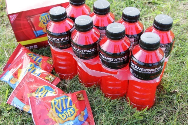 ritz bits and powerade for parents