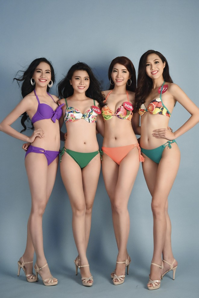 Nguoi dep Hoa hau Hoan vu khoe dang voi bikini