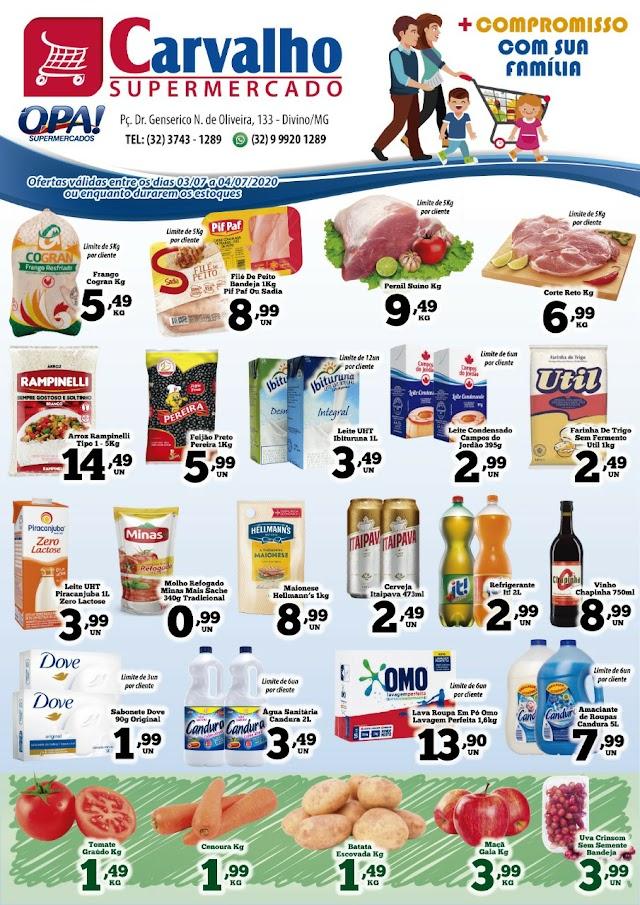 Seu fim de semana com muita economia é no Carvalho Supermercado