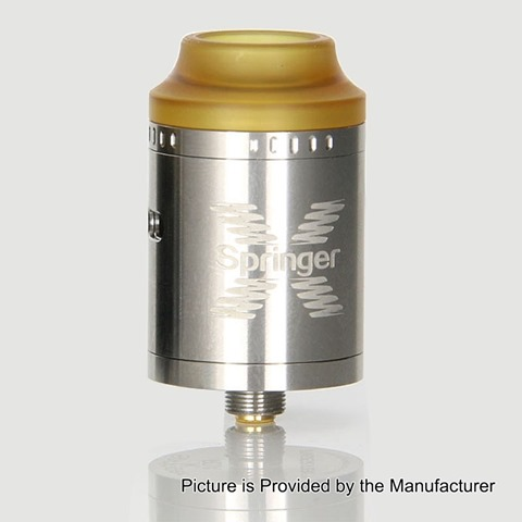 authentic tigertek springer x rda rebuildable dripping atomizer silver stainless steel 24mm diameter thumb%255B2%255D - 【新製品】Squonk!対応。「Cthulhu MOD Azathoth RDA(クトゥルフMODアザトースRDA)」「Tigertek Springer X RDA(タイガーテック・スプリンガーX・RDA)」