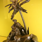 Musée Girodet :  Carlo Marochetti (Turin 1805 - Passy 1867), sculpture (cheval, palmier, arabe)