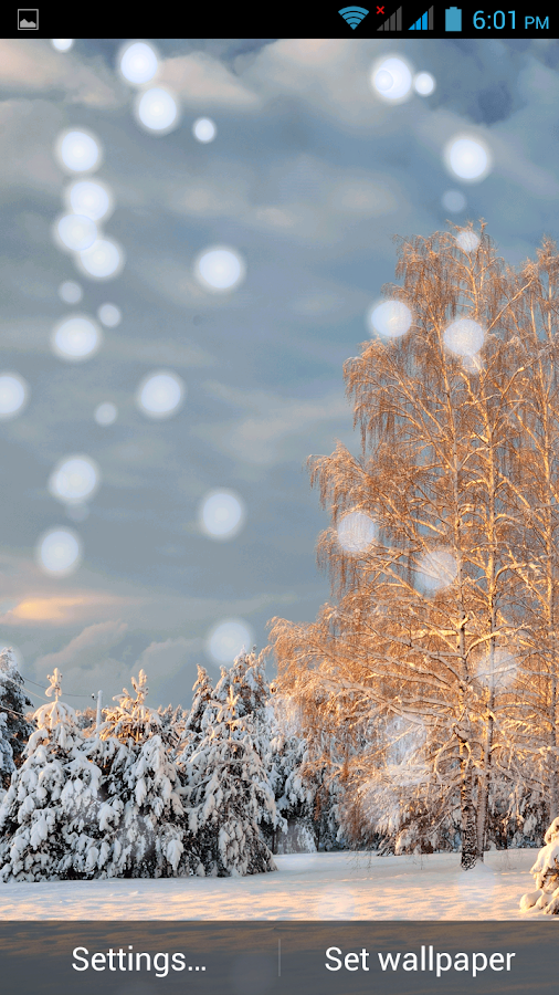 snow fall wallpaper live android apps on google play