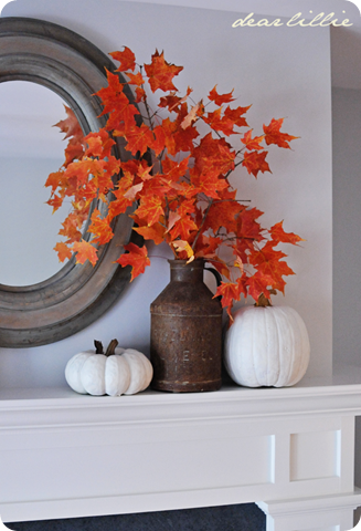 leaves fall decor