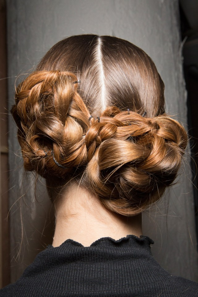 DOUBLE BRAIDED BUNS FOR ATTRACTIVE LADY IN THIS SUMMER 5