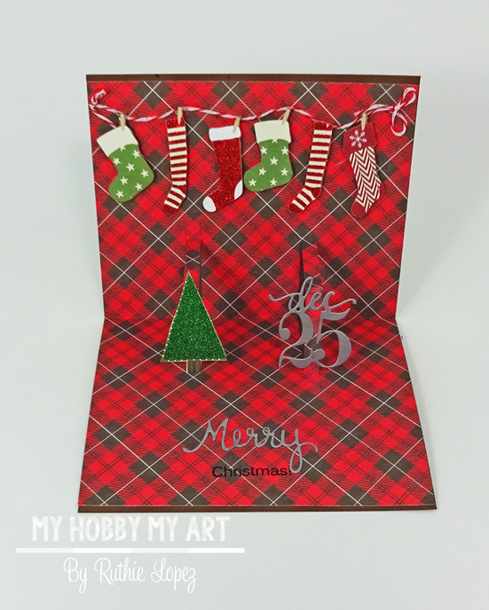 Latinas Arts and Crafts - Pop Up card -Christmas Card - Ruthie Lopez 4