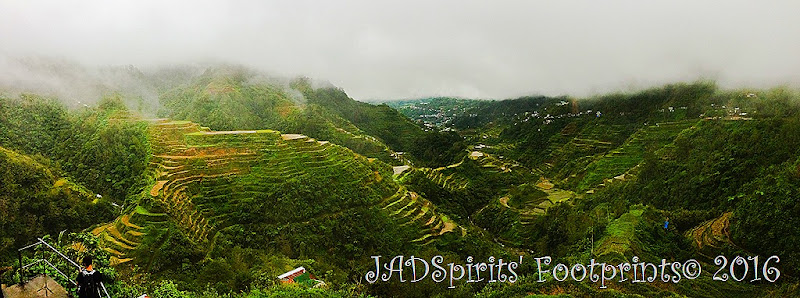 The Banaue Rice Terraces seen from the main viewpoint