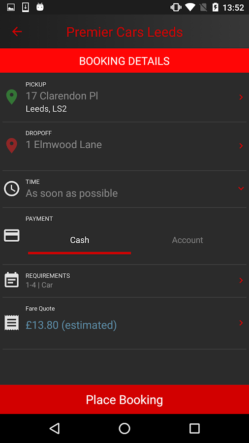 Premier Cars Leeds- screenshot