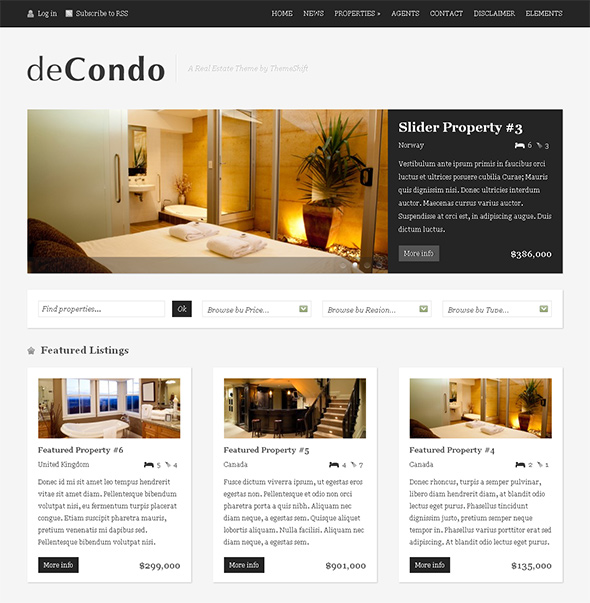 deCondo WordPress Real Estate Theme