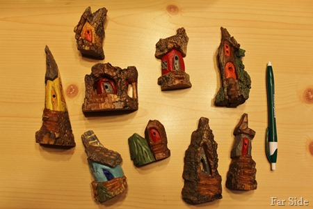 Carvings painted