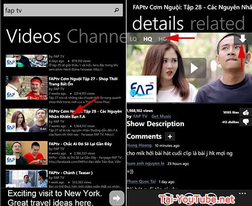 Tải ứng dụng xem tivi free - Youtube HD cho Windows phone + Hình 5