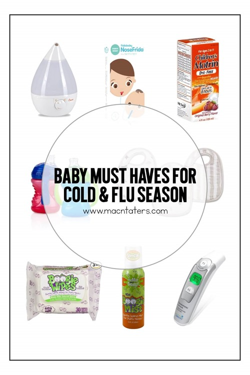 Baby Must Haves for Cold and Flu Season: Having a baby or toddler with a cold can be so pitiful, but these handy items can help make your cold experience a little bit better.