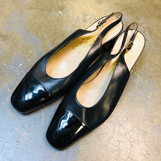 Salvatore Ferragamo Black Slingbacks