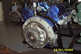 Here is the 365-390 setup for stick by using Chevy flywheel and clutch, just add Chevy bell housing..