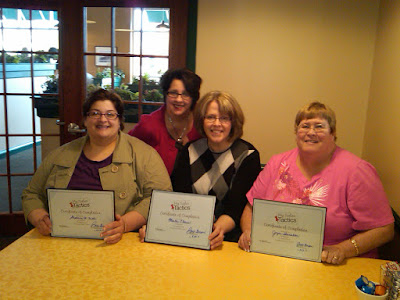 Congrats goes to graduates of Barb Girson's Entrepreneur Sales Circle Program - (Pictured Left to Right) Stephanie Faiella, Barb Girson, Martha Clouse, Joyce Shanahorn.