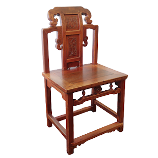Chinese Carved Elm Chair