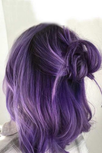 Bold And Provocative Dark Purple Hair Color Ideas 2018