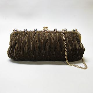 Miu Miu Ruched Velvet Evening Bag