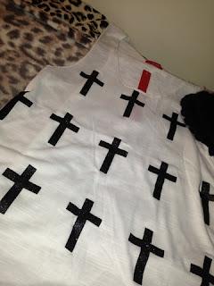 Ebay Cross Print Vest