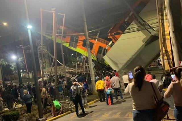SE CAE EL METRO DE CIUDAD DE MÉXICO.