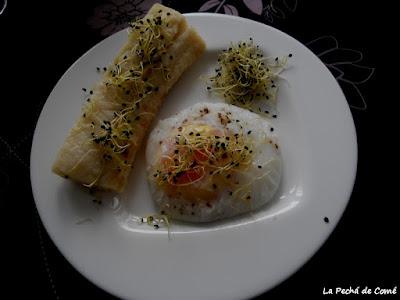 Bacalao al Varoma con huevo poché