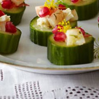 Seafood Salad Cucumber Cups.