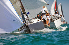 J/111 sailing fast under spinnaker- IRC UK Nationals