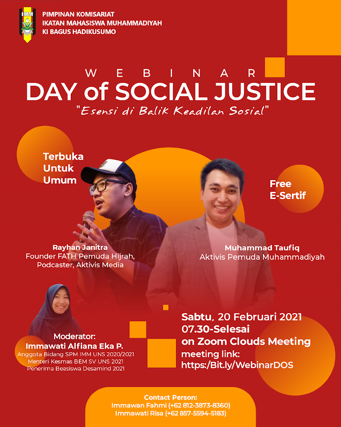 Webinar Day of Social Justice
