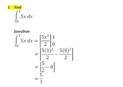 contoh integral tentu 1