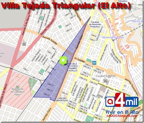 Tejada Triangular (1980): Villa del Distrito 1 de El Alto