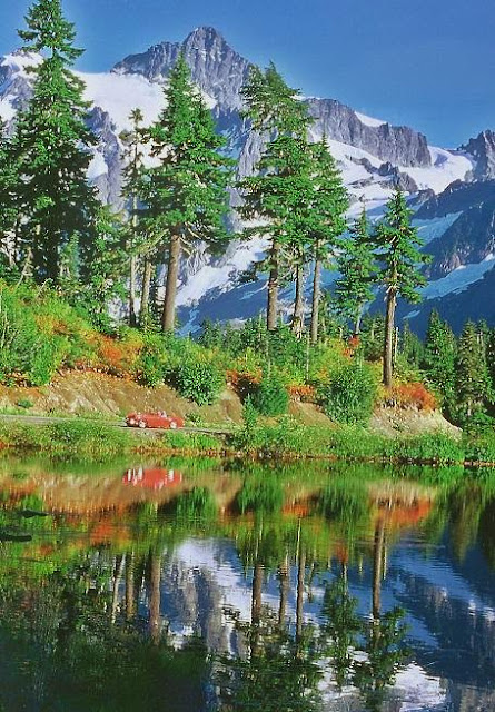 The reflection of Mt. Shukan on Picture Lake is breathtaking.Credit: Robert James