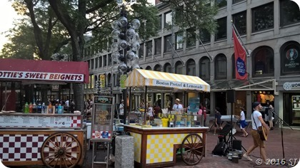 Street vendors in Boston