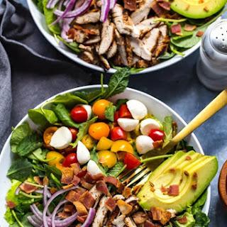 Grilled Chicken, Avocado & Ranch BLT Salad.