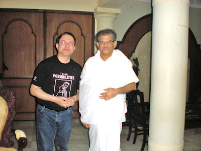 Receiving Blessings of  Darmadhikari Padma Bhushan Dr. Hegde