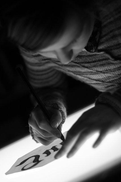 Calligraphe débutante