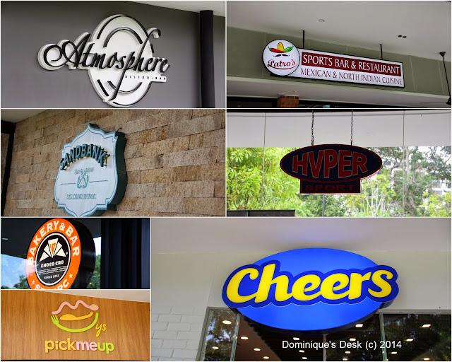 Some of the restaurants/shops we visited