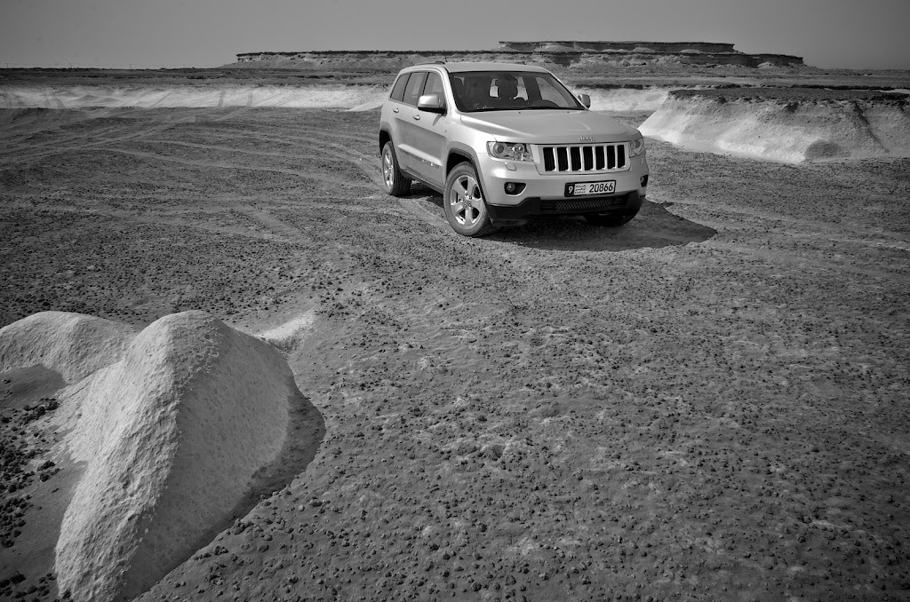 Grand Cherokee in desert