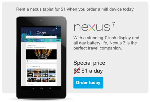 Rent Nexus 7 Tablet