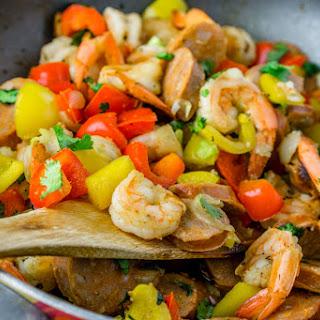 20 Minute Sausage & Shrimp Skillet