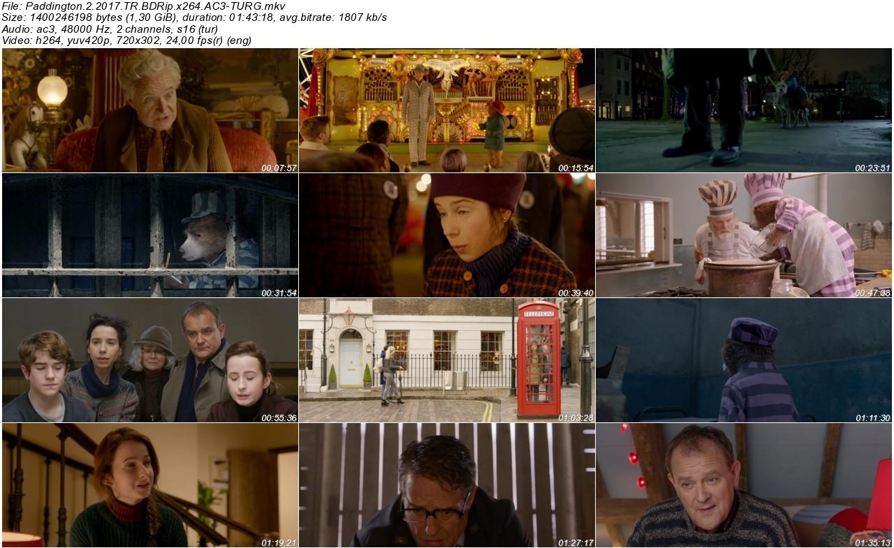 Ayı Paddington 2 2017 - 1080p 720p 480p - Türkçe Dublaj Tek Link indir