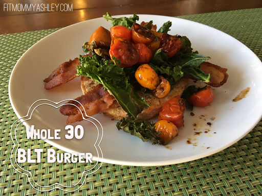 blt, bacon, kale, tomato, burger, whole 30, approved, gourmet, delicious, dinner, paleo