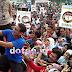 Tumpah, Ribuan Warga Kota Subang Antusias Senam Pagi Bersama Sandiaga Uno