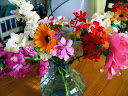 A Christmas bouquet of flowers, cut from the garden at the first house we lived in.