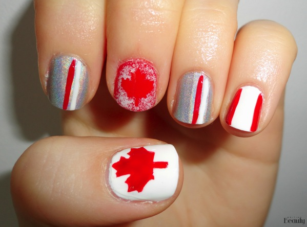 Canada Day Nail Art  Free Nail Stickers 1