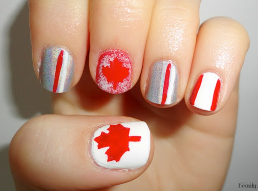 Canada Day Nail Art Free Stickers 1