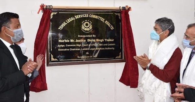 Justice Dhiraj Singh Thakur Inaugurates Tehsil Legal Services Committee at Khaltse