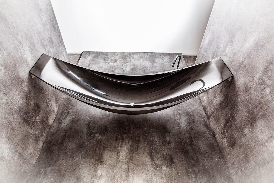 *沐浴新體驗懸空吊床浴缸:VESSEL碳纖維輕量享受! 5