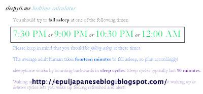 Waktu Tidur Terbaik, Aep