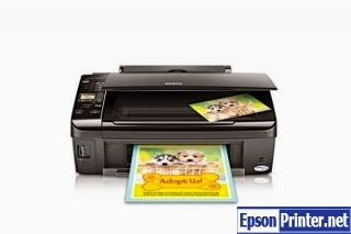 Reset Epson Stylus NX220 inkjet printer with software